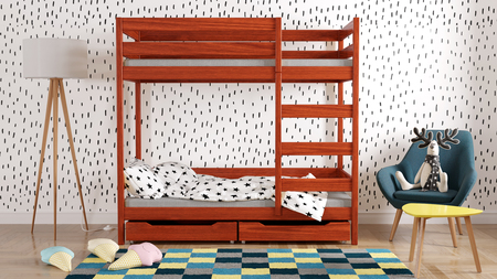 etagenbett mit schubladen