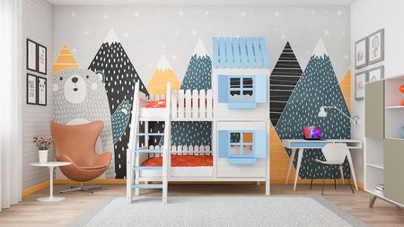 Etagenbett, Bett für Kinder, Bett Haus, Etagenbetten, Kinderbetten